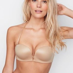 VS Nude Bombshell Multi-Way Strapless Push-Up Bra